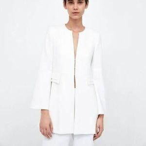 Zara White Frock Coat Size L